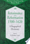 Renaissance and Reformation  1500 1620