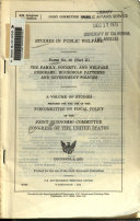 The Family, Poverty, and Welfare Programs: Household patterns and government policies. (Revision of December 3, 1973, print)