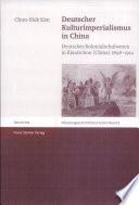 Deutscher Kulturimperialismus in China