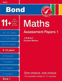 Bond Assessment Papers Maths  9 10 Years
