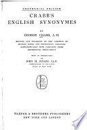 Crabb s English Synonymes