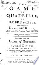 The Game of Quadrille