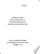 Preliminary Findings  Radon Daughter Levels in Structures Constructed on Reclaimed Florida Phosphate Land Book PDF