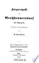 Kriegsereignisse von Großhennersdorf und Umgegend, bearb. u. hrsg. von ---.