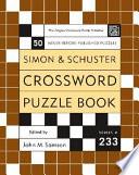 Simon And Schuster Crossword Puzzle Book book