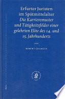 Erfurter Juristen im Spätmittelalter