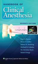 Handbook Of Clinical Anesthesia
