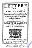 Lettere del cavalier Marino gravi  argute  e facete