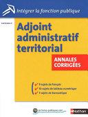 Adjoint administratif territorial   Annales corrig  es
