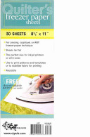 Quilters Freezer Paper Sheets