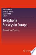 Telephone Surveys In Europe book