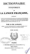 Dictionnaire synonymique de la langue francaise