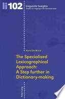 The Specialised Lexicographical Approach