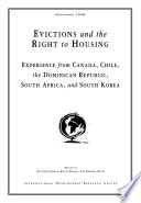 Evictions and the Right to Housing