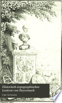 Historisch-topographisches Lexicon von Steyermark