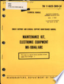 Direct Support And General Support Maintenance Manual : ...