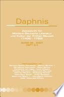 Daphnis  Zeitschrift Fnr Mittlere Deutsche Literatur und Kultur der Frnhen Neuzeit