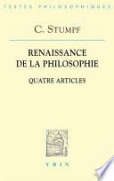 illustration du livre Renaissance de la philosophie