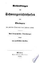 Verhandlungen des Schwurgerichtshofes von Oberbayern