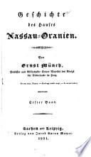 Geschichte des Hauses Nassau-Oranien