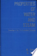 Properties Of Water And Steam  Proceedings Of The 11th International conference