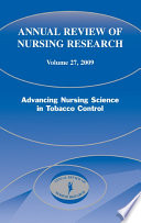 Annual Review of Nursing Research  Volume 27  2009