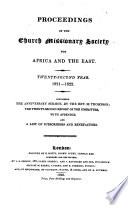 Proceedings of the Church Missionary Society for Africa and the East