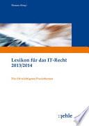 Ehmann u a  Lexikon f  r das IT Recht 2013 2014