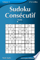 illustration Sudoku Consécutif - Facile - Volume 2 - 276 Grilles