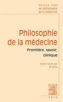 illustration Textes Cles de Philosophie de la Medecine