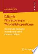 Kulturelle Differenzierung in Wirtschaftskooperationen