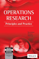OPERATIONS RESEARCH  PRINCIPLES AND PRACTICE  2ND ED