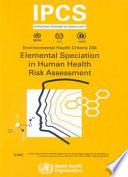 Elemental Speciation In Human Health Risk Assessment