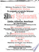 SYNOPSIS Bibliothecae Exegeticae in Vetus Testamentum  Kurzgefaster Auszug Der gr  ndlichsten und nutzbarsten Auslegungen   ber alle B  cher Altes Testaments
