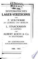 Systematisches lagerverzeichnis