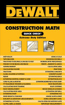 DeWALT Construction Math Quick Check