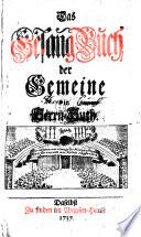 Das Gesang Buch der Gemeine in Herrn Huth