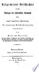 Allgemeine Geschichte vom Anfange der historischen Kenntniß bis auf unsere Zeiten