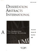 Dissertation Abstracts International