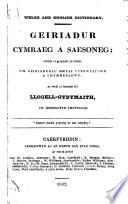 Welsh and English Dictionary