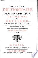 Le grand dictionnaire geographique, historique et critique. Nouvelle ed