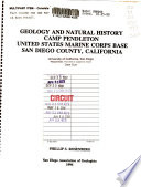 Geology and Natural History  Camp Pendleton  United States Marine Corps Base  San Diego County  California