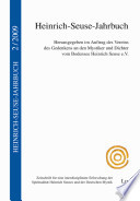 Heinrich-Seuse-Jahrbuch Band 2 (2009)