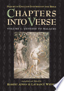 Chapters into Verse  Poetry in English Inspired by the Bible