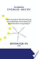 Energierecht aus europäischer Sicht