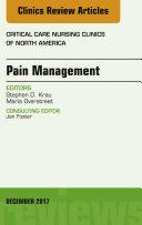 Pain Management, An Issue of Critical Nursing Clinics, E-Book