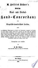 M  Gottfried B  chner s Biblische Real  und Verbal Hand Concordanz  Durchsehen und verbessert von K  W  Vetter