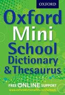 Oxford Mini School Dictionary   Thesaurus