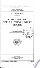 State Direction of Rural School Library Service