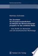 Der Grundsatz der Prospektverständlichkeit am Beispiel des Börsenzulassungsprospekts für den amtlichen Markt